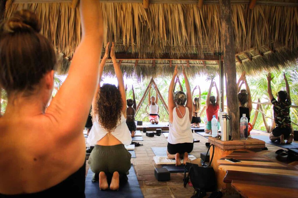 Yoga at the top of Selina Puerto Escondido